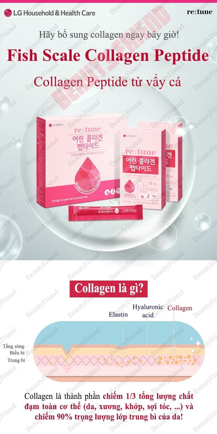 Collagen từ vẩy cá Re:tune Fish Scale Collagen Peptide - hinh 06