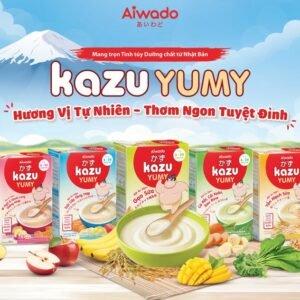 Bột ăn dặm Aiwado Kazu Yumy Trái Cây Tổng Hợp 200g - hinh 02