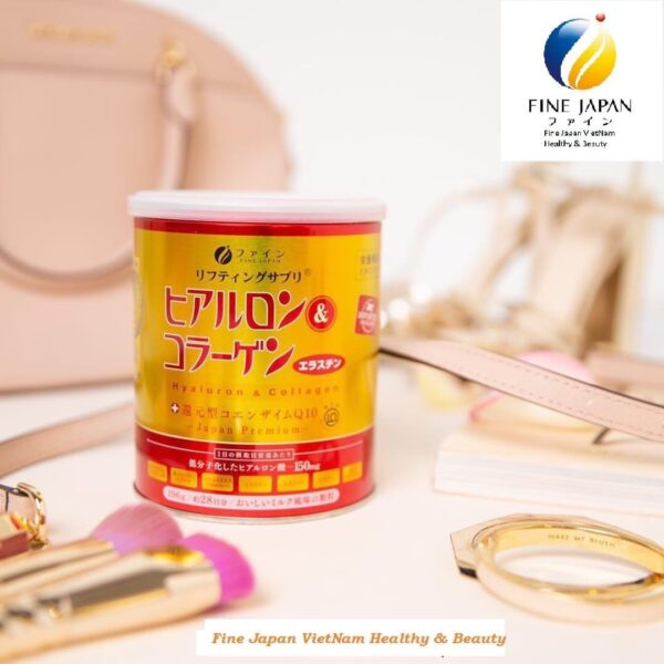 Bột uống Collagen & Hyaluron Q10 Fine Japan - hinh 02