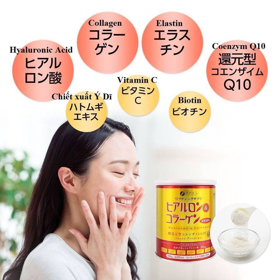 Bột uống Collagen & Hyaluron Q10 Fine Japan - hinh 09