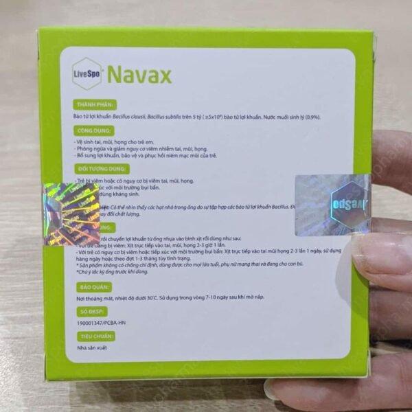 LiveSpo NAVAX - Dung dịch nước muối chứa bào từ lợi khuẩn - hinh 04
